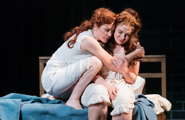 Abigail Cruttenden and Lorna Fitzgerald in Her Naked Skin at Salisbury Playhouse. Photo: Helen Murray