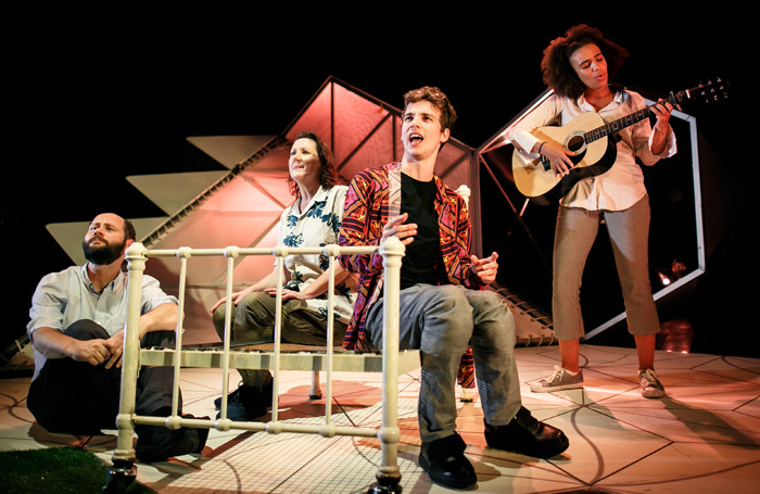 The cast of All You Need Is LSD at Birmingham Repertory Theatre. Photo: Benkin Photography