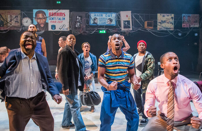 Barber Shop Chronicles at the National theatre. Photo: Tristram Kenton