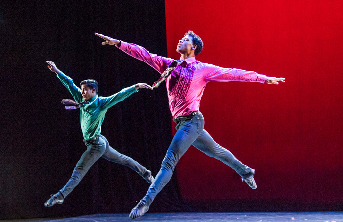 Carlos Acosta and Acosta Danza  in Rooster. part of Carlos Acosta-A Celebration at Royal Albert Hall. Photo: Tristram Kenton