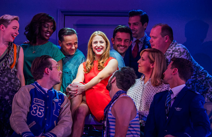 Rosalie Craig and the cast of Company at the Gielgud Theatre, London. Photo: Tristram Kenton