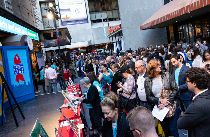 Crowds at the 32nd Broadway Cares/Equity Fights Aids Flea Market on September 30, 2018. Photo: Howard Sherman