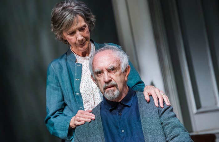 Eileen Atkins and Jonathan Pryce in The Height of the Storm at Wyndham's Theatre, London. Photo: Tristram Kenton