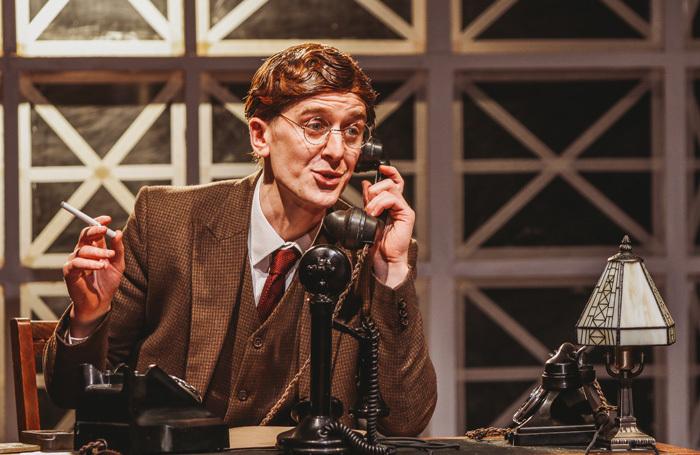 Ian Toner in Double Cross at Lyric Theatre, Belfast. Photo: Melissa Gordon