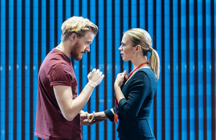 Jack Lowden and Hayley Atwell in Measure for Measure. Photo: Manuel Harlan