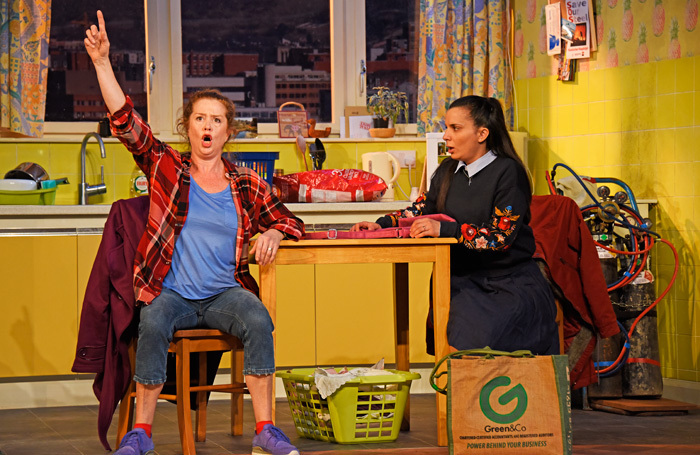 Lisa Howard and Suzanne Ahmet in They Don't Pay! We Won't Pay at York Theatre Royal. Photo: Nobby Clark