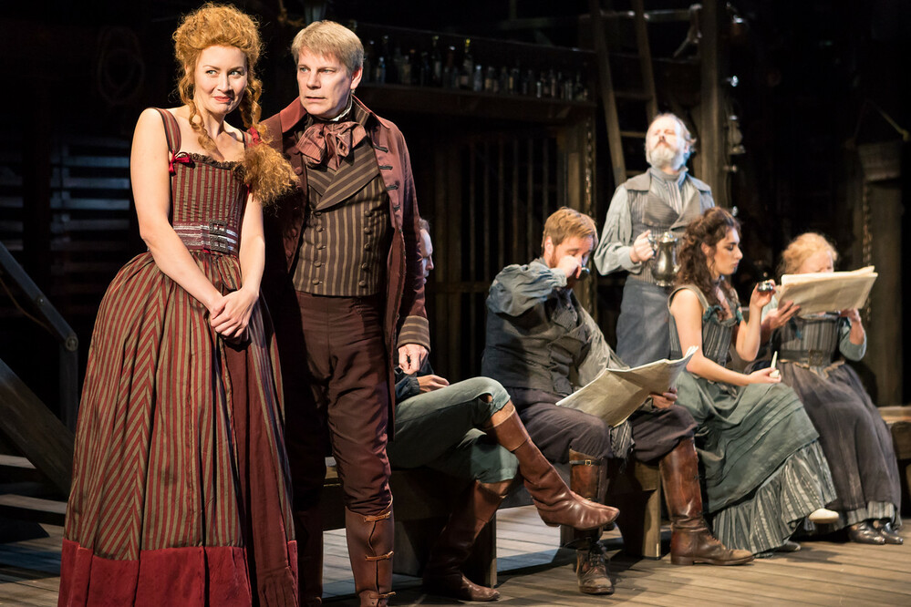 The cast of Moll Flanders at Mercury Theatre, Colchester. Photo: Scott Rylander