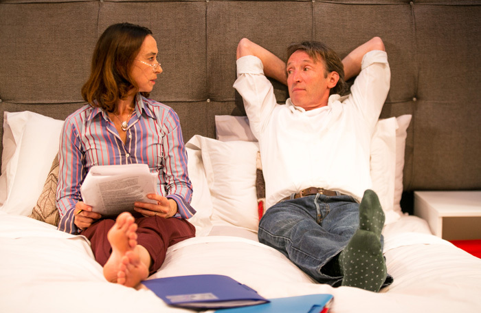 Amy Marston and Peter Hamilton Dyer in Parents' Evening at Jermyn Street Theatre, London. Photo: Harry Livingstone