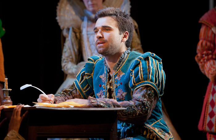 Pierro Niel-Mee in Shakespeare in Love at Theatre Royal Bath. Photo: Pete Le May