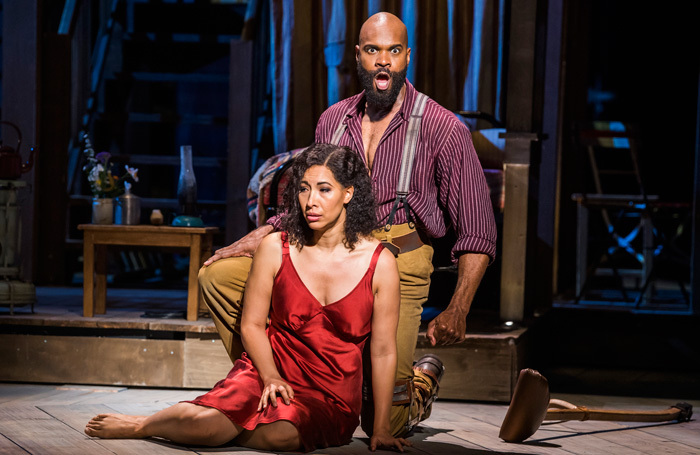 Nicole Cabell and Eric Greene in Porgy and Bess at the London Coliseum. Photo: Tristram Kenton