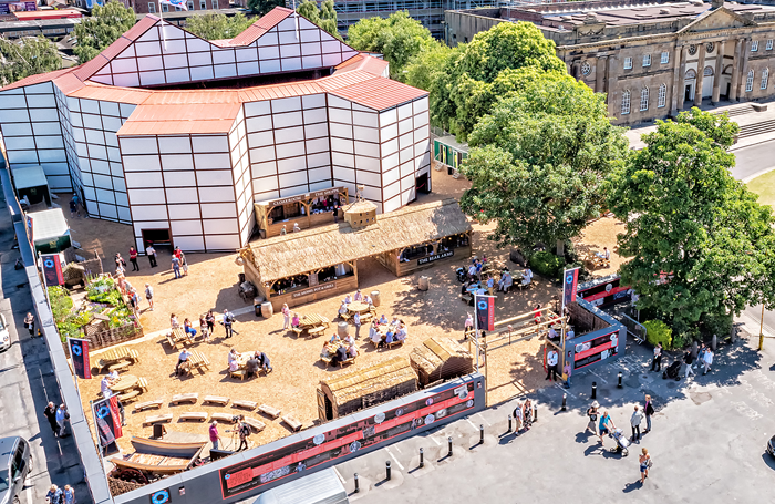 The pop-up Rose Theatre hosted performances in a car park in York city centre from June to September this year. Photo: Anthony Robling