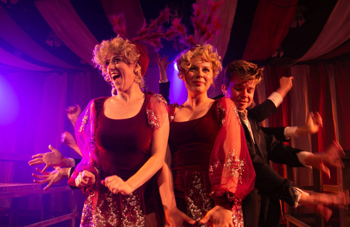 Lauren Edwards and Katie Beudert in Side Show at CLF Cafe, London. Photo: Michael Smith