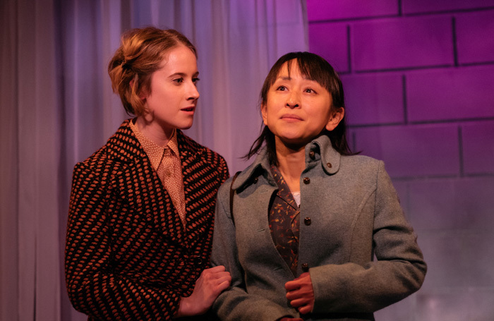 Alice Dillon and Tomoko Komura in The Art of Gaman at Theatre503, London. Photo: Helen Murray