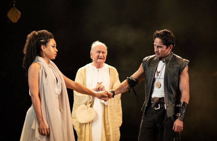 The cast of Troilus and Cressida at Royal Shakespeare Theatre, Stratford-upon-Avon. Photo: Helen Maybanks