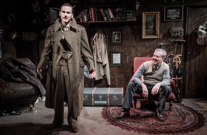 Charles Aitken and Oliver Beamish in Billy-Bishop Goes to War at Jermyn Street Theatre, London. Photo: Robert Workman