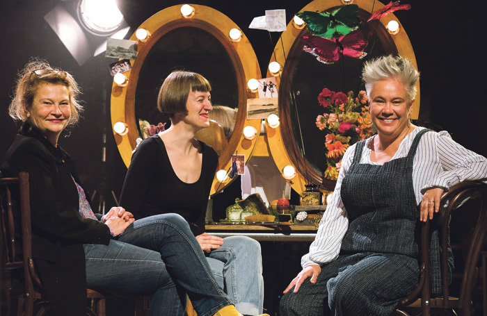 Judith Dimant, Poppy Keeling and Emma Rice. Photo: Steve Tanner