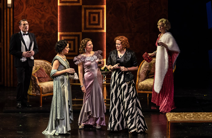 The cast of Dinner at Eight at National Opera House, Wexford. Photo: Clive Barda
