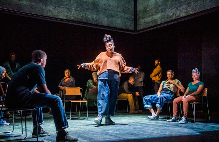 The cast of Ear for Eye at Royal Court Theatre, London. Photo: Tristram Kenton