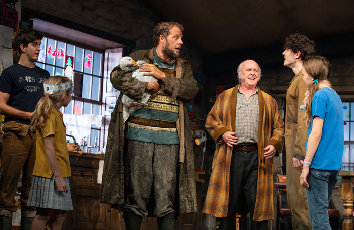 The cast of The Ferryman  at Bernard B Jacobs Theatre, New York. Photo: Joan Marcus