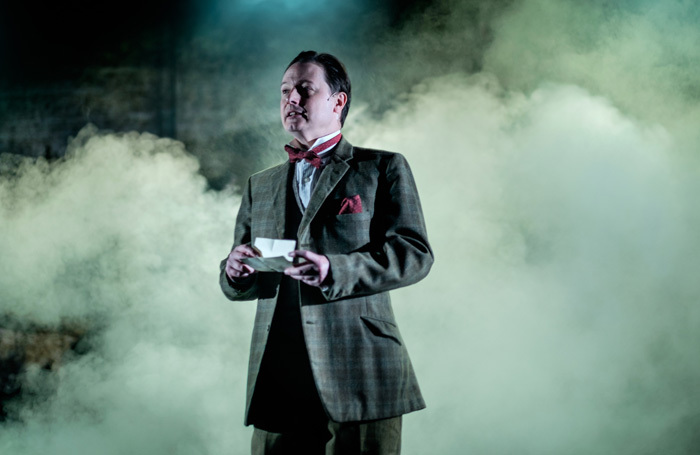 Dominic Brewer in Hound of the-Baskervilles at the Barn Theatre, Cirencester. Photo: Evoke Pictures