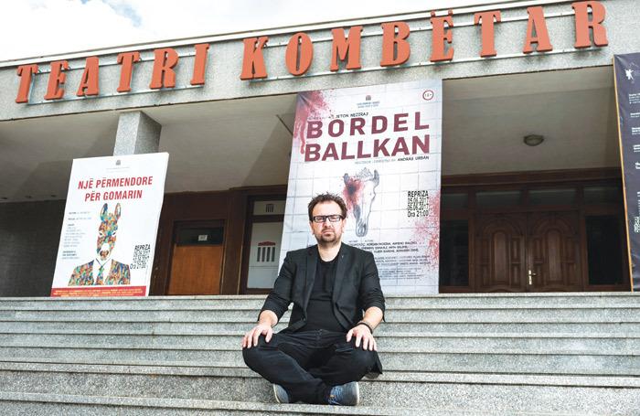Jeton Neziraj at the National Theatre of Kosovo. Photo: Slavica