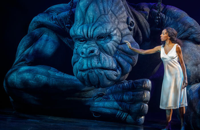 Christiani Pitts in a scene from King Kong, due to open on Broadway next month