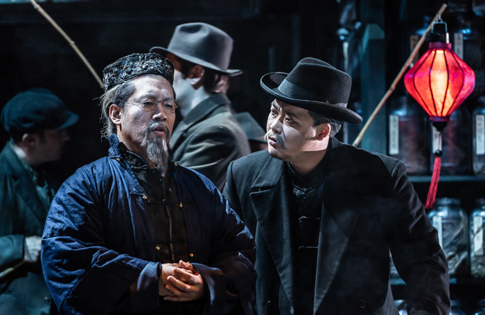 Leon Kim and Joo Won Kang in L'Oracolo. Photo: Clive Barda