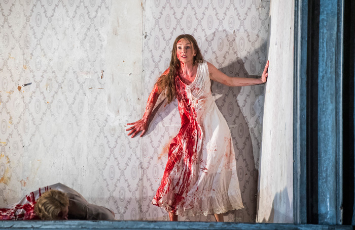 Sarah Tynan in Lucia Di Lammermoor at London Coliseum. Photo: Tristram Kenton