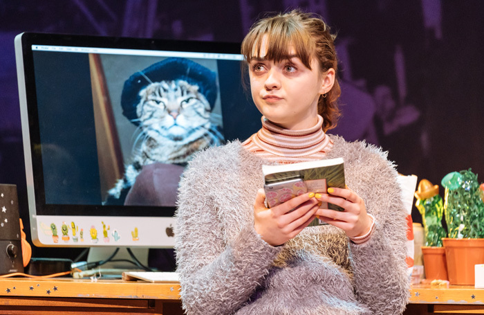 Maisie Williams in I and You at Hampstead Theatre, London. Photo: Manuel Harlan