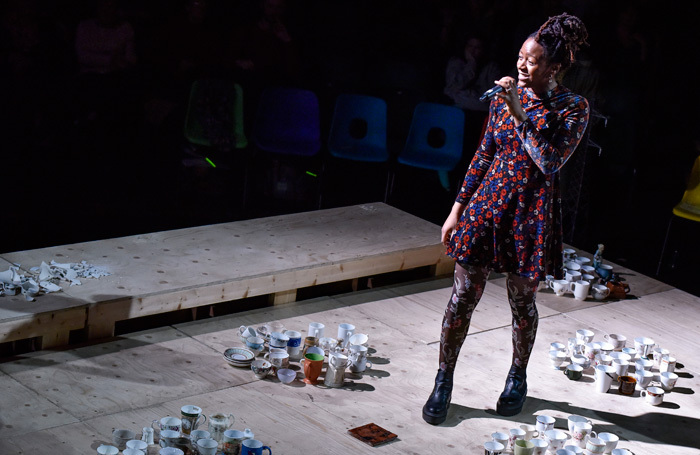 Laurietta Essien in The-Mysteries at Royal Exchange Theatre, Manchester. Photo: Joel Chester Fildes