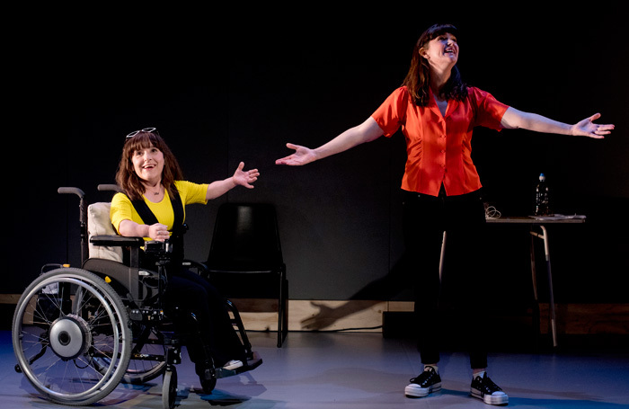 Lisa Hammond and Rachael Spence in Still No Idea at the Royal Court, London. Photo: Photos by Camilla Greenwell
