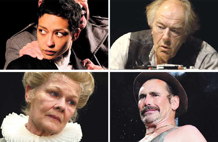 Clockwise from top left: Ruth Negga in Hamlet/Michael Gambon in Krapp's Last Tape/Mark Rylance in Jerusalem and Judi Dench in Alls Well that Ends Well. Photos: Ros Kavanagh/Anthony Wood/Tristram Kenton