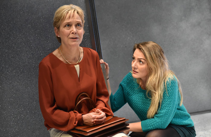 Kate-Spiro and Maria in Silence at Mercury Theatre. Photo: Robert Day