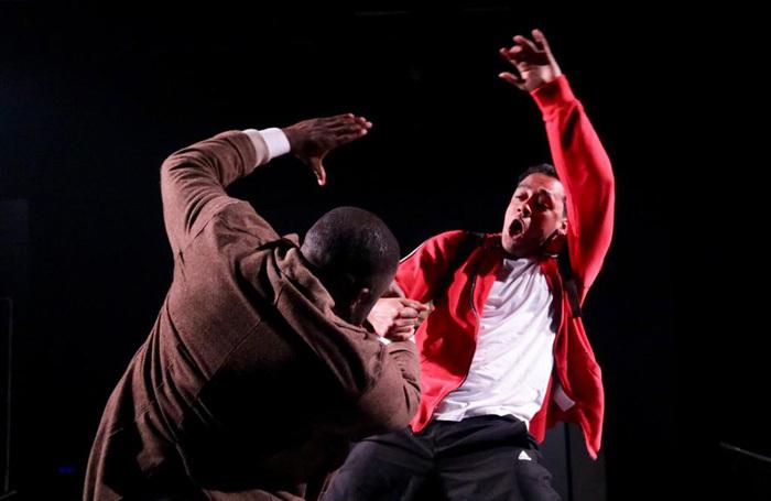 Scene from Sweet Like Chocolate Boy at Jack Studio Theatre, London. Photo: Aaron Kelly