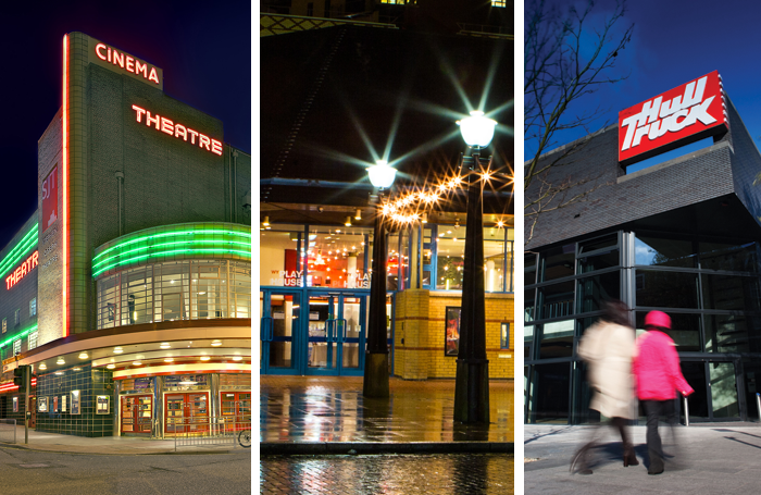 Scarborough's Stephen Joseph Theatre, Leeds Playhouse and Hull Truck. Photos: James Drawneek/Chris Thornton/Karl Andre