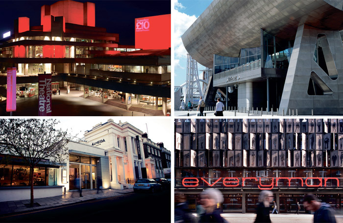 Theatres such as the National (top left), Lowry (top right), Almeida (left) and Liverpool Everyman (above) run cut-price ticket schemes. Photos: David Samuels/Len Grant/Philip Vile/Tim Walker