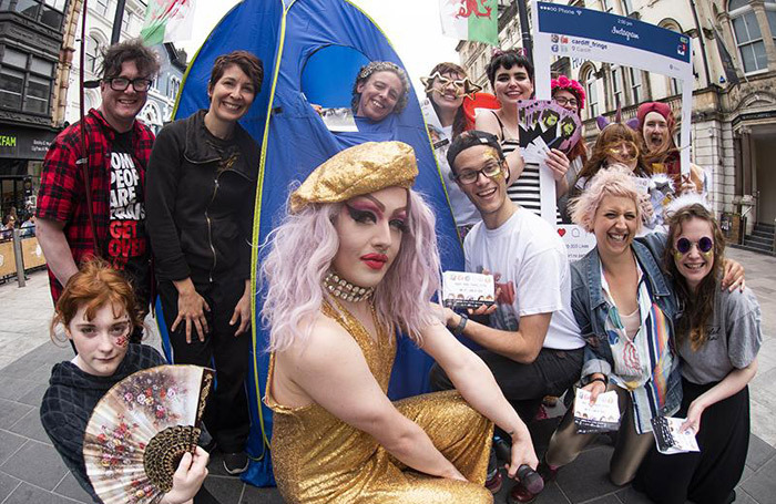 Participants in Cardiff Fringe Theatre Festival. Photo: Craig Kirkwood