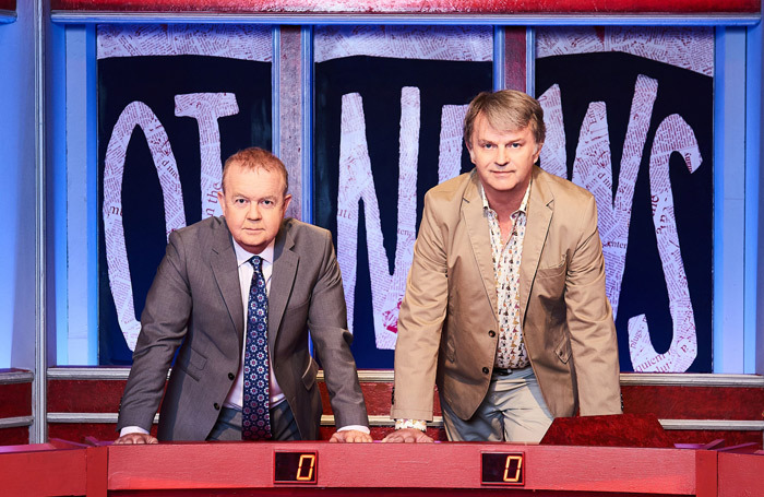 Ian Hislop and Paul Merton, hosts of long-running topical news quiz show Have I Got News for You. Photo: BBC/Hat Trick/Ray Burmiston