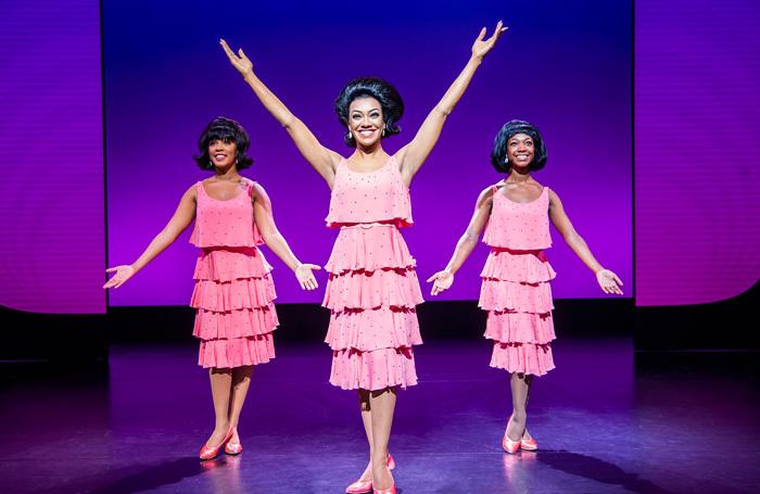 Karis Anderson and the cast of Motown the Musical at Playhouse, Edinburgh. Photo: Tristram Kenton