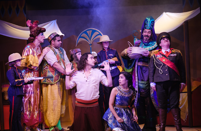 The cast of Aladdin at the Theatre, Chipping Norton. Photo: Tomalin Lightworks