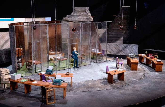 Soutra Gilmour's model box for National Theatre's Antigone in 2012. Photo: James Bellorini