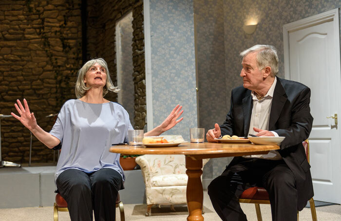 Claire Dyson and Edmund Dehn in Waiting for God at Leatherhead Rep. Photo: Mark Turner