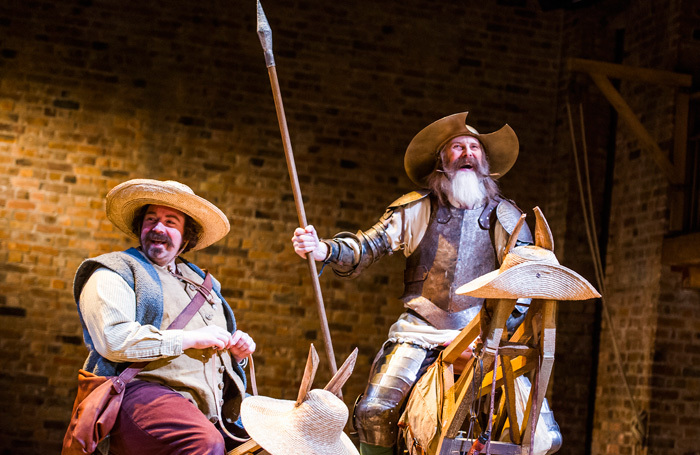 Rufus Hound and David Threlfall in Don Quixote at Garrick Theatre, London. Photo: Tristram Kenton