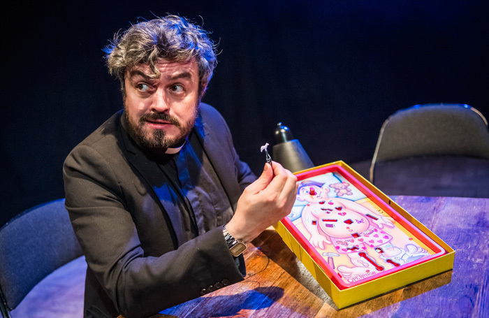 Ross Sutherland in The Exorcism at Battersea Arts Centre, London. Photo: Tristram Kenton