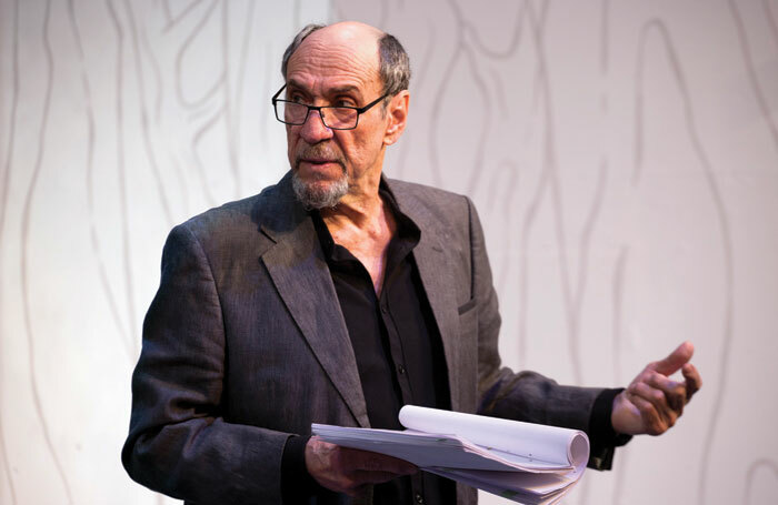 F Murray Abraham in The Mentor, which was performed in the West End in 2017. Experienced actors have a vital mentorship role to play in theatre companies, says Irvine Iqbal. Photo: Simon Annand