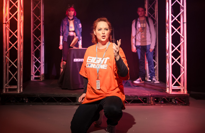 Suanne Braun in Fanatical at Playground Theatre, London. Photo: Scott Rylander