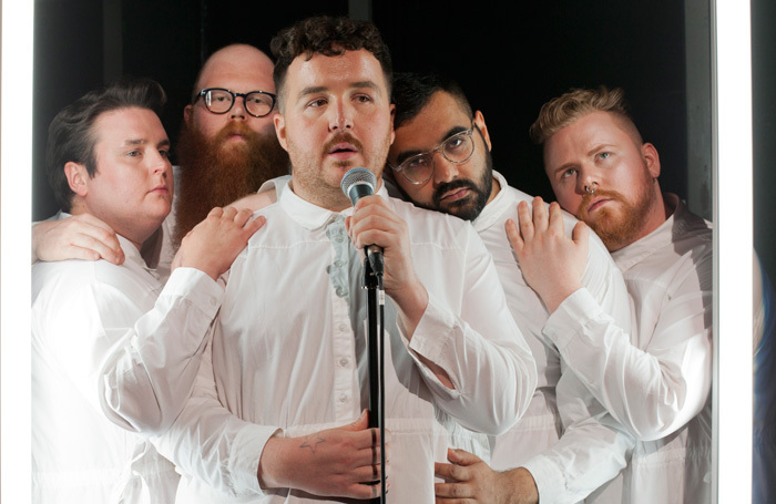 Scottee and the cast of Fat Blokes at Southbank Centre, London