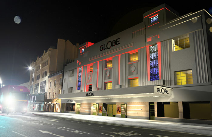 Artist's impression of how the redeveloped Stockton Globe Theatre will look