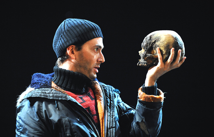 After David Tennant hurt his back appearing in the RSC's Hamlet, the run continued with Edward Bennett in the title role. Photo: Tristram Kenton