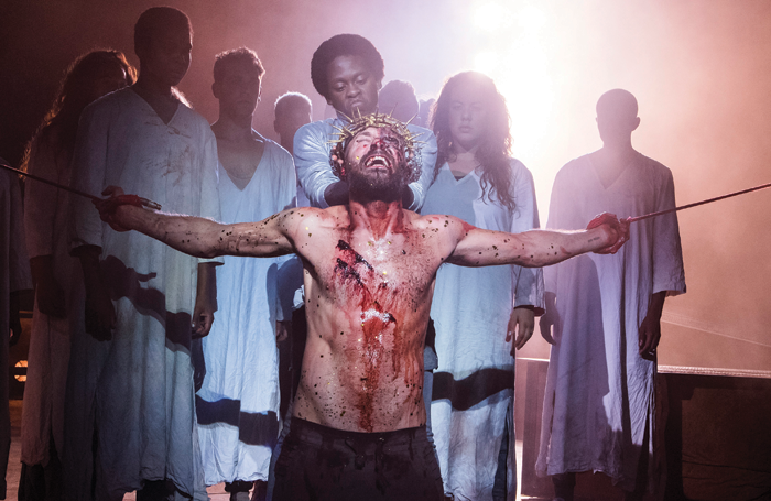 Declan Bennett in Jesus Christ Superstar at Regent's Park Open Air Theatre, 2016. Photo: Tristram Kenton